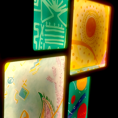 winnicott light boxes by BREAD art